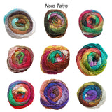 TAIYO  100g/200m Self Striping Worsted/Aran/10ply cotton, silk, wool, nylon CHOOSE COLOUR
