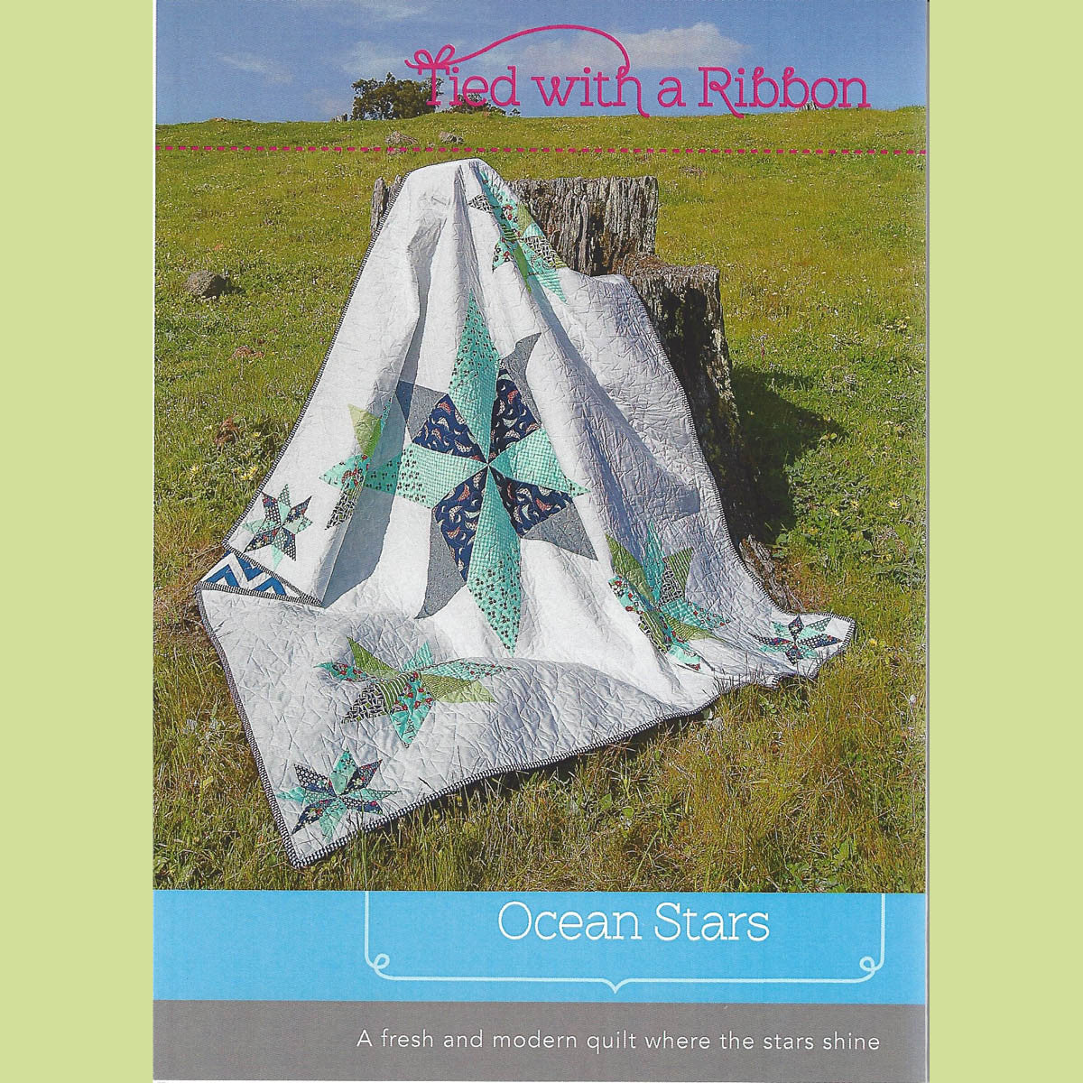 OCEAN STARS - Quilt Pattern - by Australian Designer Jemima Flendt - brand:  Tied With A Ribbon