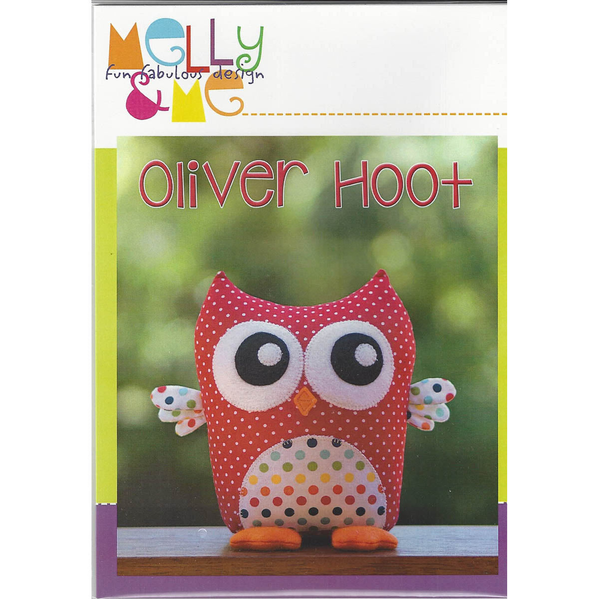 OLIVER HOOT OWL - Soft Toy Pattern - by Australian Designer Melanie McNeice
