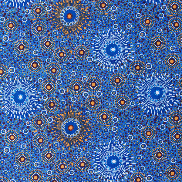 ONION DREAMING COPPER & BLUE by Aboriginal Artist Doris Inkamala