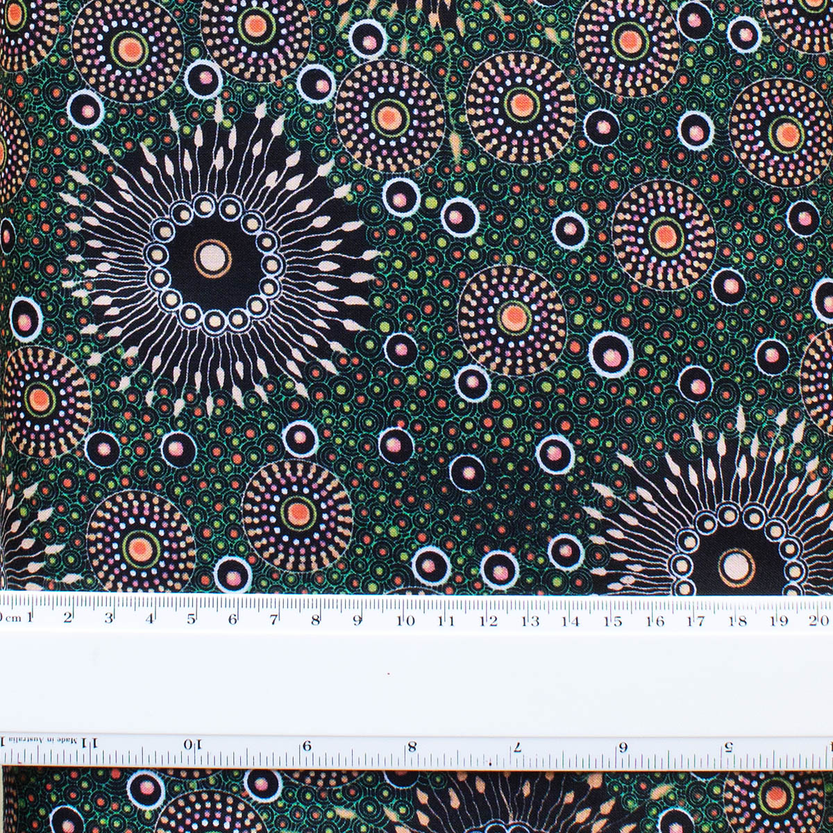 ONION DREAMING FOREST GREEN by Aboriginal Artist Doris Inkamala