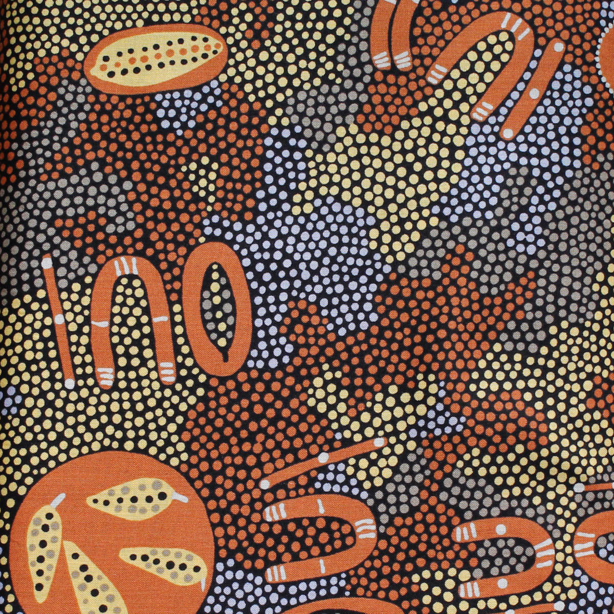 PASSION FRUIT DREAMING BROWN by Aboriginal Artist MARY NABARULLA