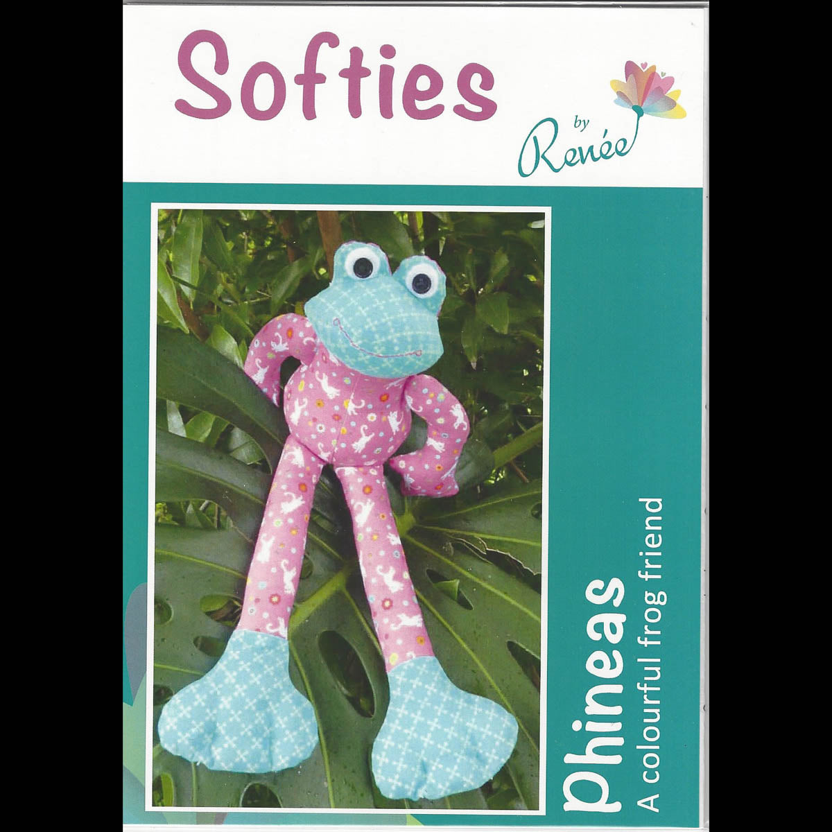 PHINNEAS FROG - Softies Pattern - by Designer Renee Wills