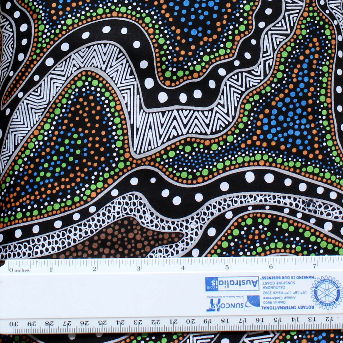 POSSUM LAND & WATER DREAMING BLUE by Aboriginal Artist HEATHER KENNEDY