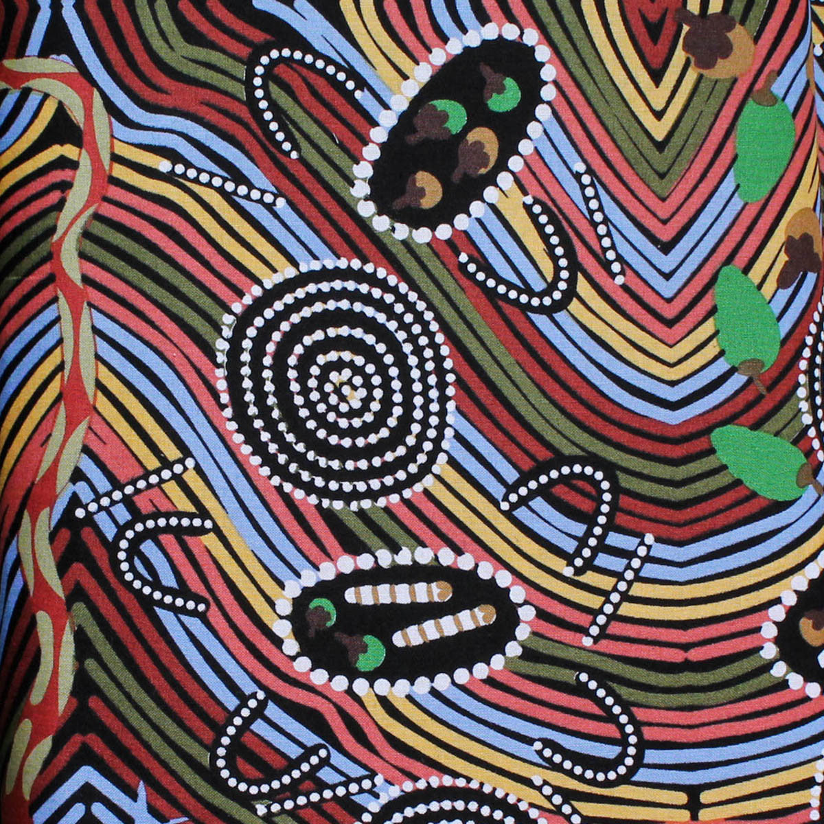 RAINBOW SNAKE by Aboriginal Artist PEGGY BROWN