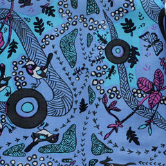 RUNNING POSSUM VINE BLUE by Aboriginal Artist NAMBOOKA