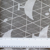 SASAZUKA BIRDS GREY - Traditional Japanese Print - 55% Linen 45% Cotton