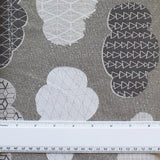 SASAZUKA CLOUDS GREY - Traditional Japanese Print - 55% Linen 45% Cotton