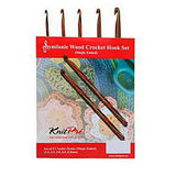 Knit Pro SYMFONIE WOOD CROCHET HOOK SET of 5 (Single Ended)