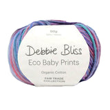 Debbie Bliss ECO BABY PRINTS Organic Cotton 4ply/Sport 50g/125m CHOOSE COLOUR