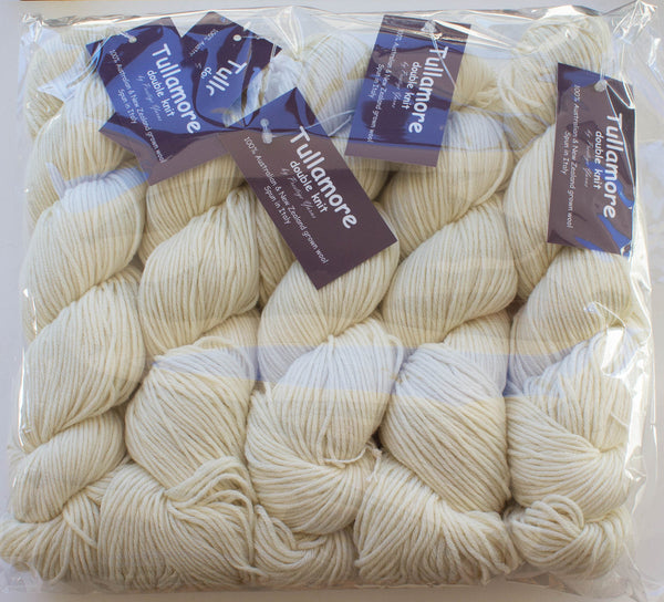 TULLAMORE Natural/Undyed  8-Ply Fabulous for Dyeing100g Skein 100% AU & NZ Fine Merino