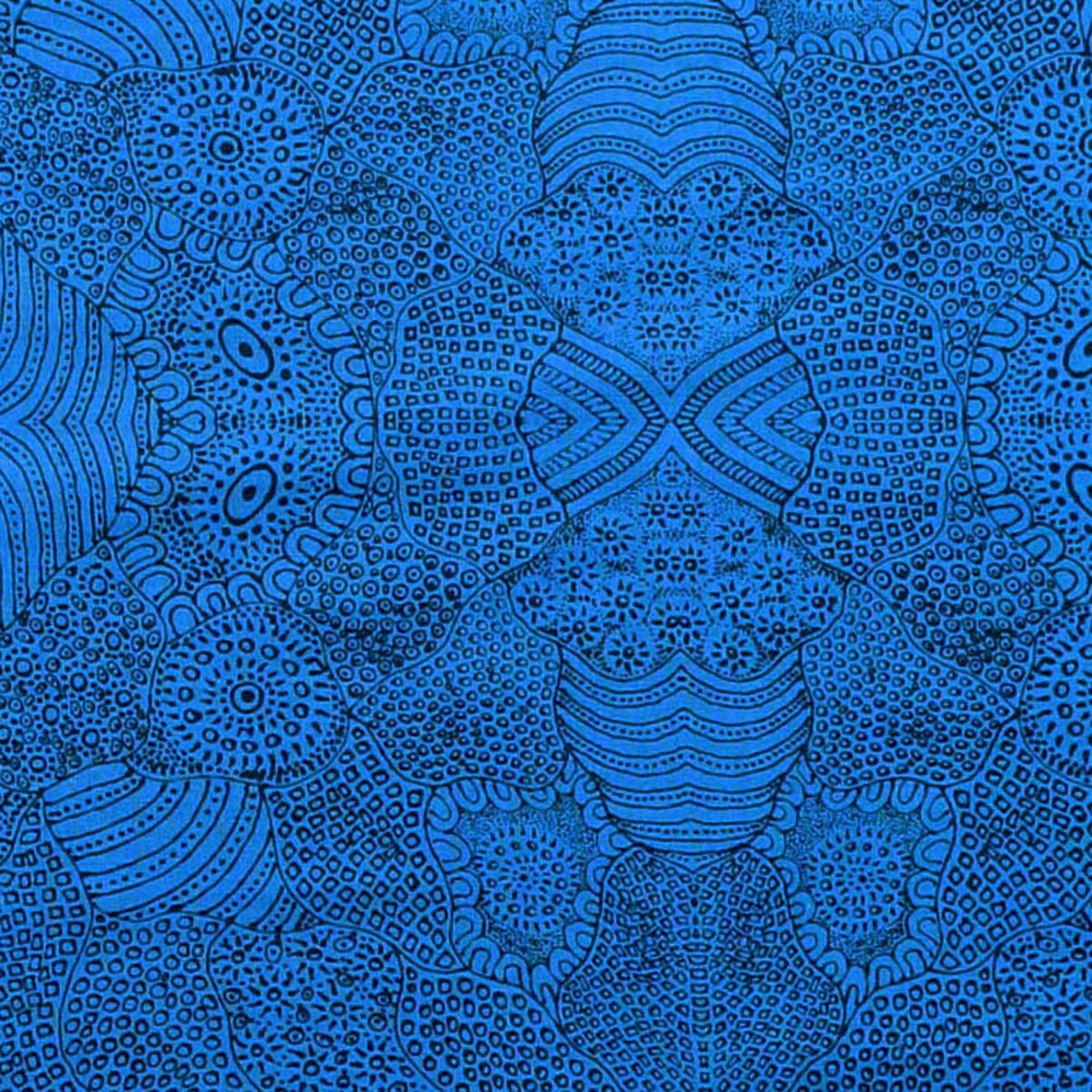 WATERHOLE  BLUE by Aboriginal Artist  ANNA PITJARA