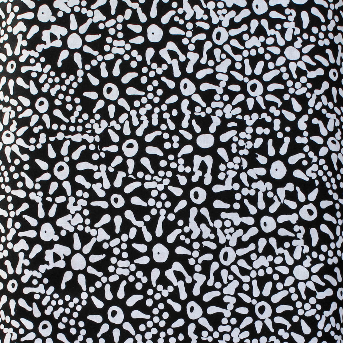 WATERHOLE & SEEDS BLACK by Aboriginal Artist  ANNA PITJARA