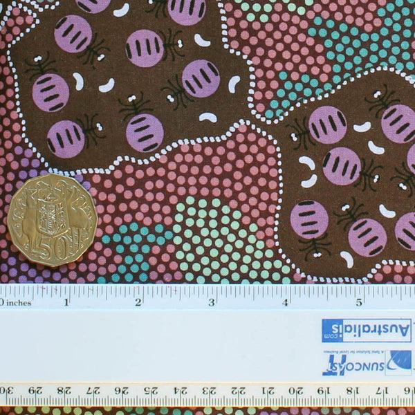 *WILD BUSH HONEY ANT PINK by Aboriginal Artist AUDREY MARTIN NAPANANGKA