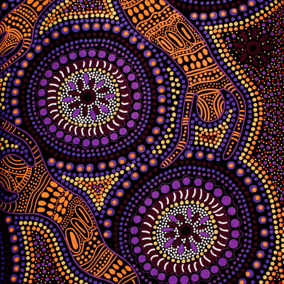 WINTER SPIRITS PURPLE by Aboriginal Artist Faye Oliver