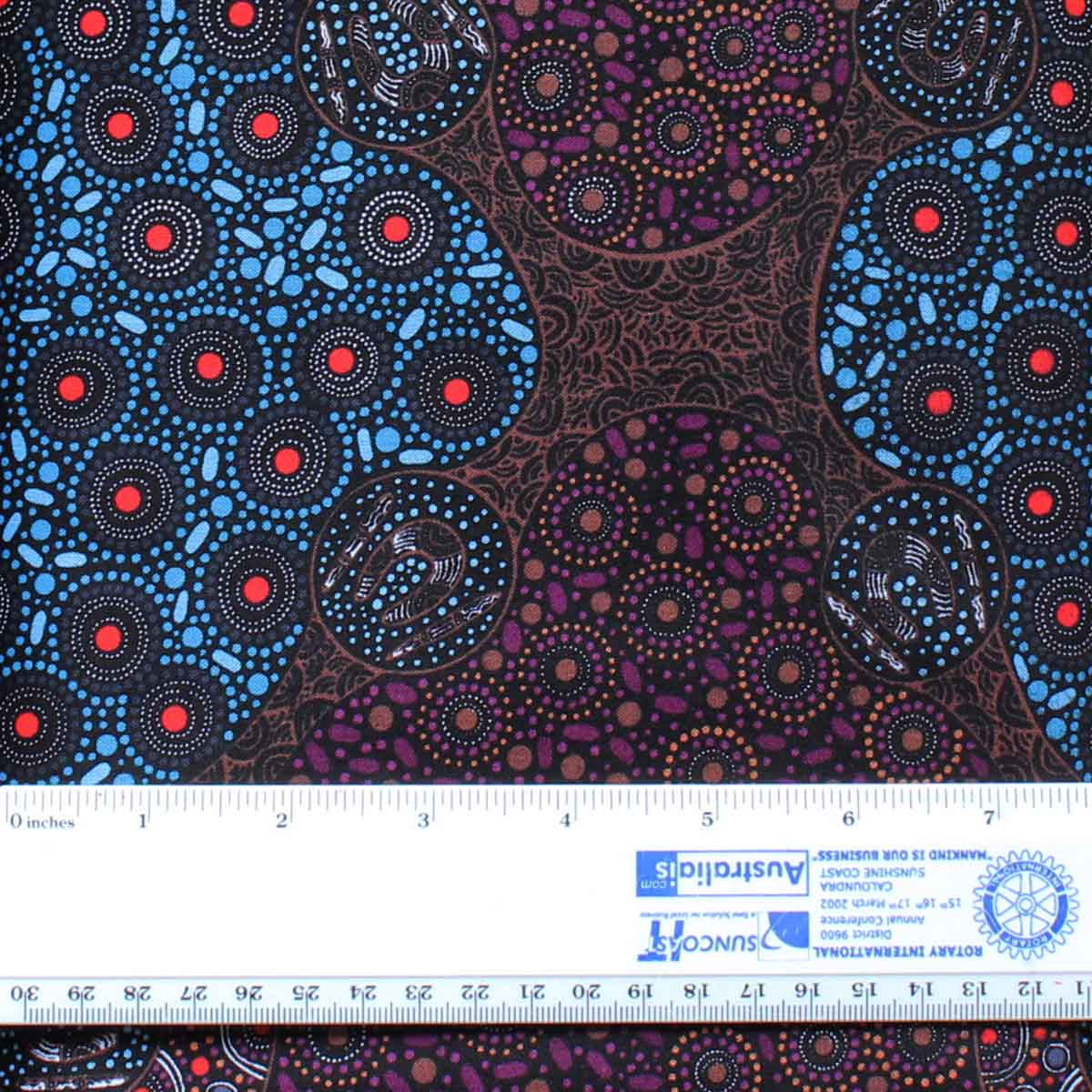 WOMEN COLLECTING WATER PURPLE by Aboriginal Artist CHRISTINE DOOLAN