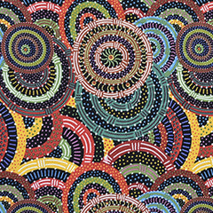 WOMEN'S BODY DREAMING BLACK by Aboriginal Artist CINDY WALLACE
