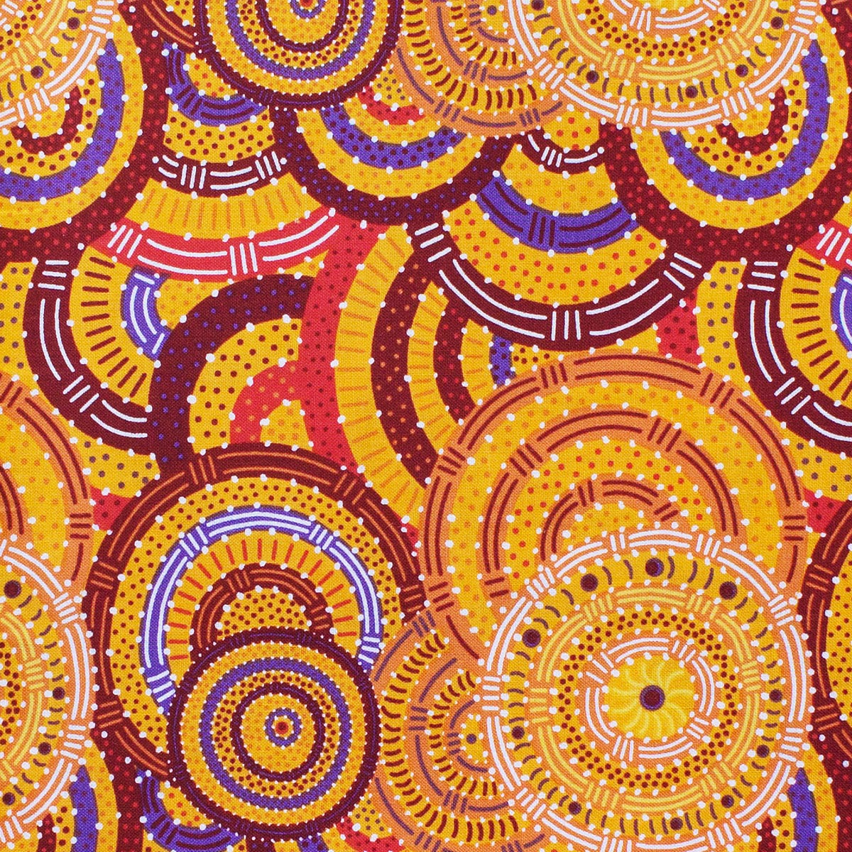 WOMEN'S BODY DREAMING MUSTARD by Aboriginal Artist CINDY WALLACE