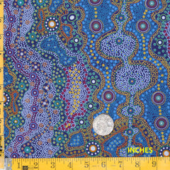 YALKE BLUE by Australian Aboriginal Artist June Smith