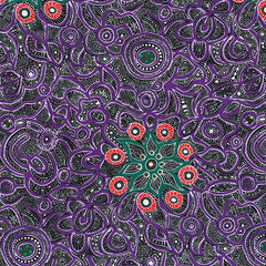 YALLAROO PURPLE by Aboriginal Artist JUNE SMITH