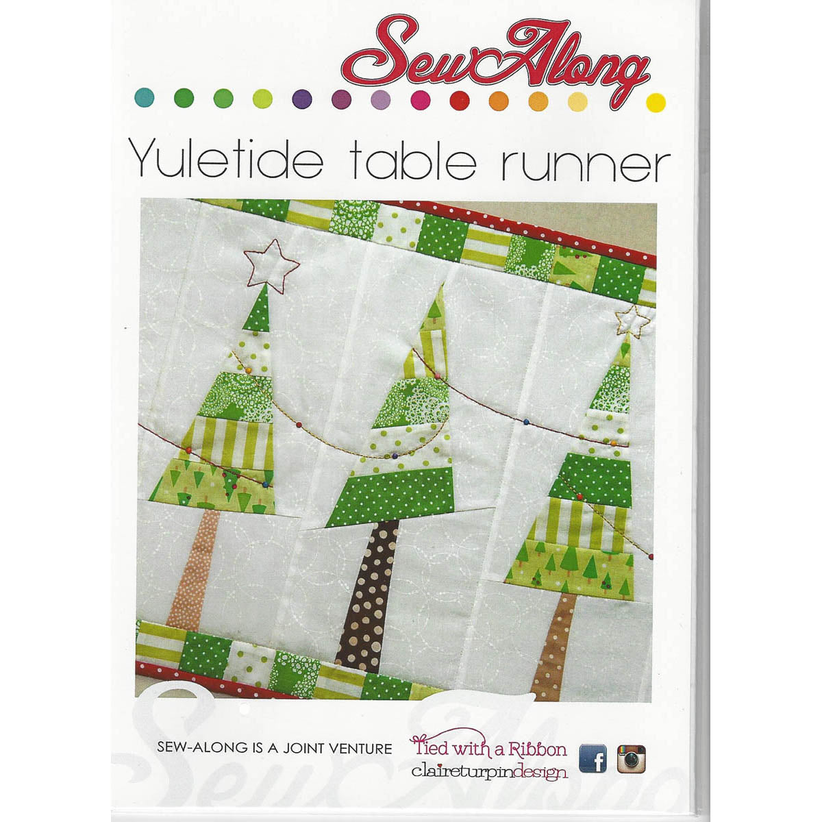 YULETIDE TABLE RUNNER - Pattern - by Claire Turpin Design