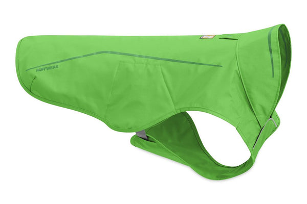 New Ruffwear Sun Shower Rain Jacket - Meadow Green/XS - Sale!