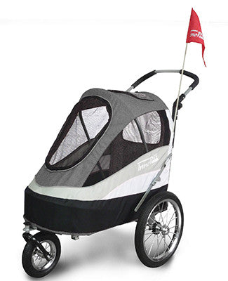 *Innopet Sporty Trailer / Stroller with Air Tyres (Now available for local hire) - Free Shipping (black/silver available 14/12 December approx)