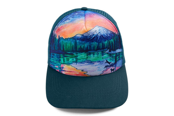 Ruffwear Artist Series Custom & Quencher Bowl & Trucker Hat - Sparks Lake