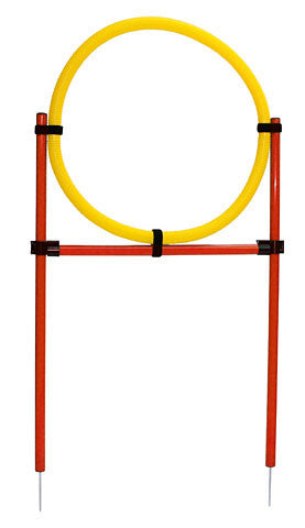 Dog Agility Set (Hoop, Hopping Bar, Slalom)