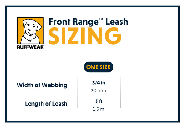 New Front Range Leashes to match Ruffwear's Best Selling Harness