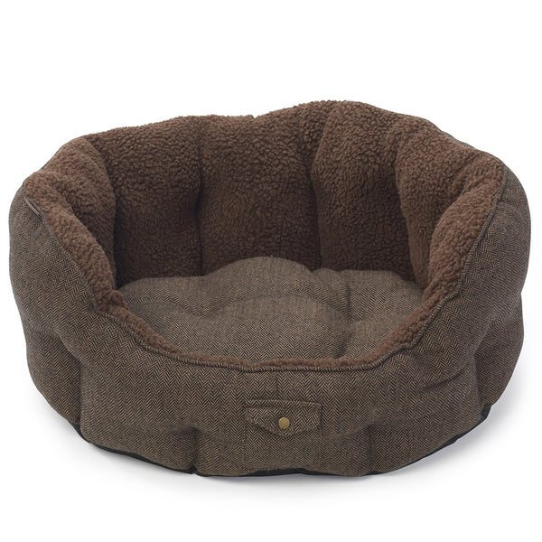 Beds - Harris Tweed Oval Dog Bed