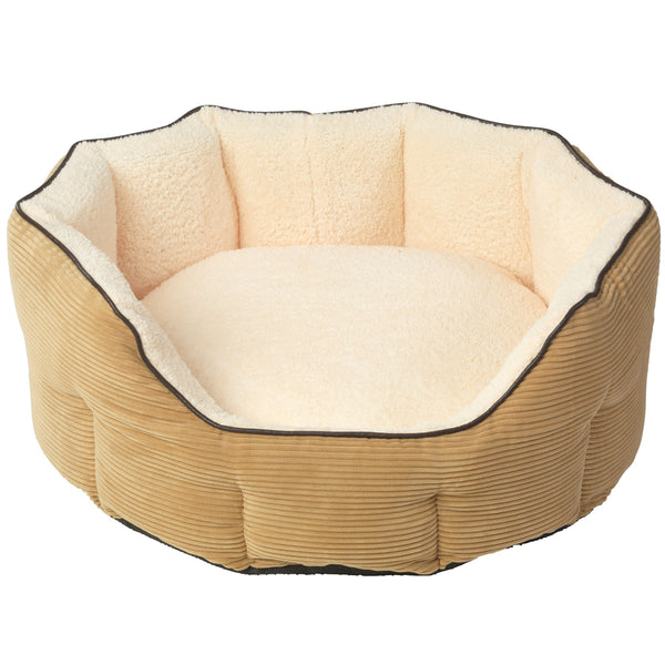 Beds - Tan Memory Foam Oval Bed