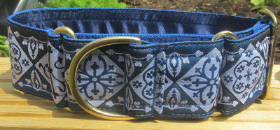 Bespoke Collars - Bespoke Collar - Blue Brindle (also Available: Velvet Lead To Match In Royal Or Navy)