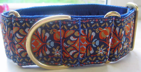 Bespoke Collars - Bespoke Collar - Royal Tapestry (also Available: Velvet Lead To Match In Navy, Royal Or Russett)