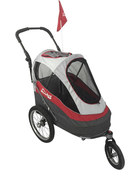 *Innopet Sporty Trailer / Stroller with Air Tyres (Now available for local hire) - Free Shipping (red/grey & black/orange available mid October)