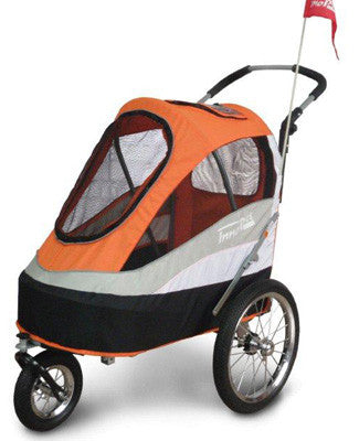 Strollers - Sporty Trailer / Stroller With Air Tyres