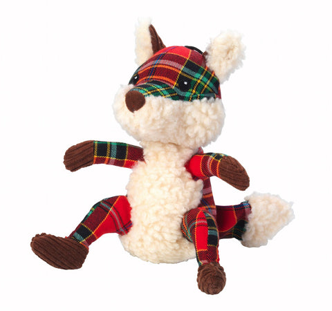 Toys - Christmas Tartan Tweed Plush Fox