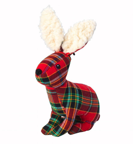 Toys - Christmas Tartan Tweed Plush Hare