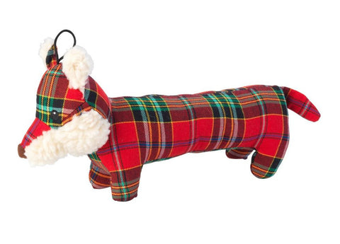 Toys - Christmas Tartan Tweed Plush Long Body Fox