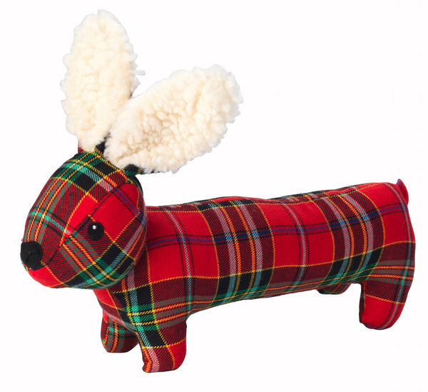 Toys - Christmas Tartan Tweed Plush Long Body Hare