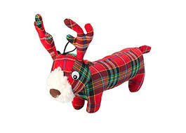Toys - Christmas Tartan Tweed Plush Long Body Stag