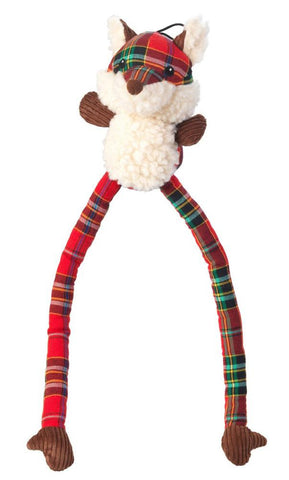Toys - Christmas Tartan Tweed Plush Long Legs Fox