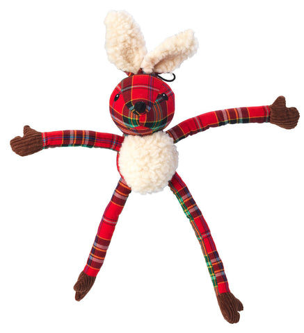 Toys - Christmas Tartan Tweed Plush Long Legs Hare