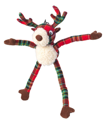 Toys - Christmas Tartan Tweed Plush Long Legs Stag