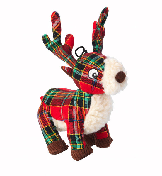 Toys - Christmas Tartan Tweed Plush Stag