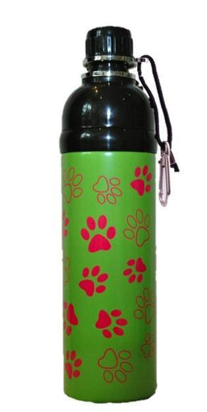 Water Bottles - Pet Water Bottle - Green Paws (750ml)