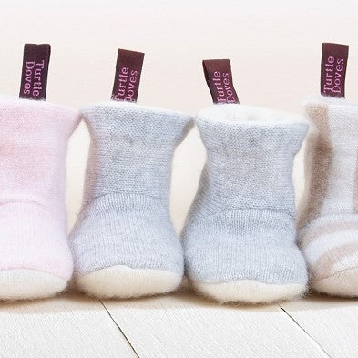 0-6 Month Cashmere Baby Booties - Made to Order