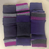 Purple Pink & Grey Striped Cashmere Wrist Warmers by Turtle Doves