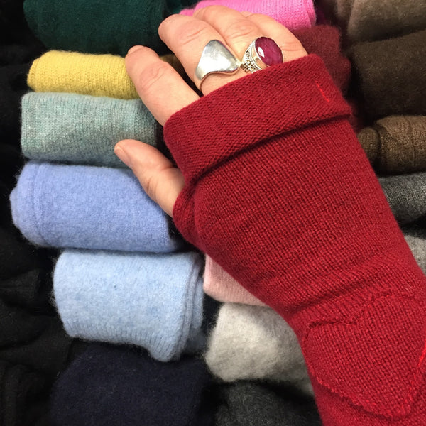 From the Heart Box Cashmere Fingerless Gloves
