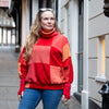 Cashmere Roll Neck Jumper in Clementine Mix by Turtle Doves